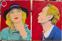普普藝術人像畫 雙人