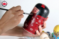 Russian Doll Painting for Two