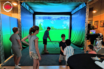 Golf Simulator Party