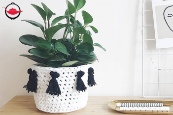 Boho Basket DIY Crochet Kit