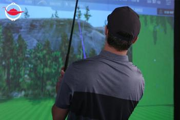 雙人高爾夫球實景模擬體驗