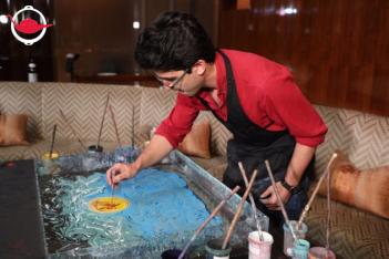 Ebru Marbling Silk Scarf  Workshop For Two