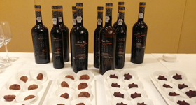 corporate entertainment chocolate and wine pairing