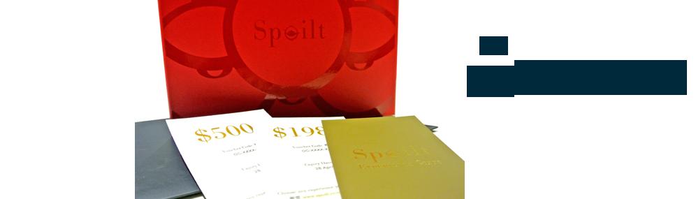 Spoilt gift card